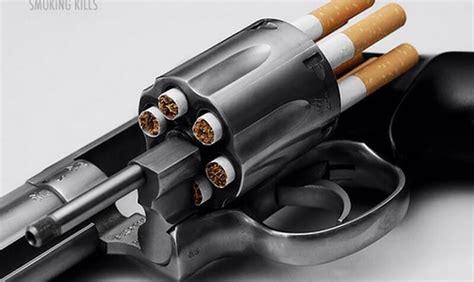 revolver avec des recharges cigarettes